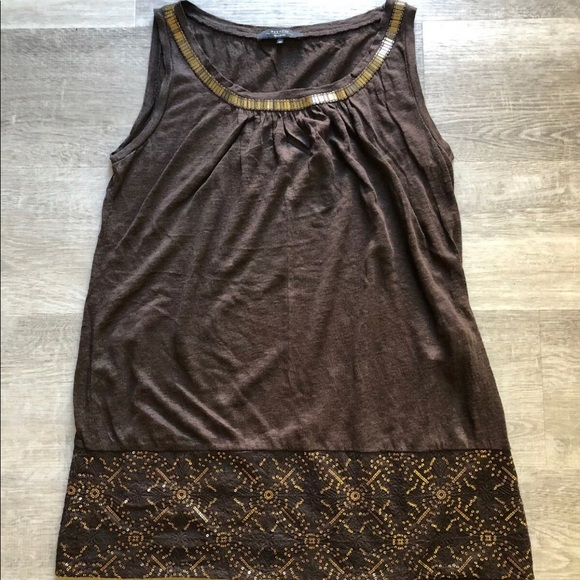MaxMara Tops - Weekend Max Mara brown sleeveless linen top size M
